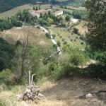 Die Villa Palagione vom Monte Voltraio aus gesehen